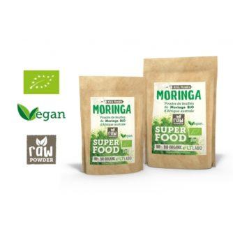 Moringa pur bio, Moringa et Ginkgo Biloba, Moringa, Mauve et Fenouil Moringa, Aloe Vera et Curcuma,