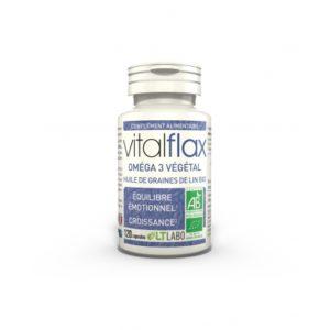 Vital Flax Bio – oméga 3végétales Équilibre émotionnel, Croissance