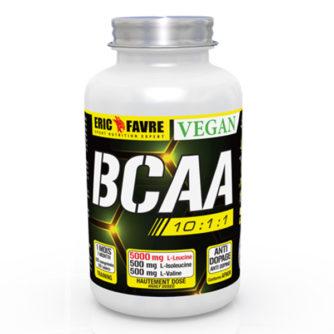 BCAA 10.1.1 VEGAN - SANS ALLERGÈNE, NI GLUTEN Préserve les réserves de glycogène musculaire Augmente la récupération des lésions musculaires Favorise l'énergie