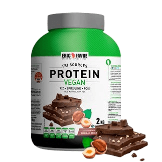 Proteine choco noisette Eric Favre Vegan